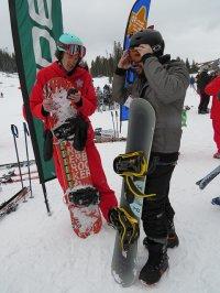 góry i snowboard